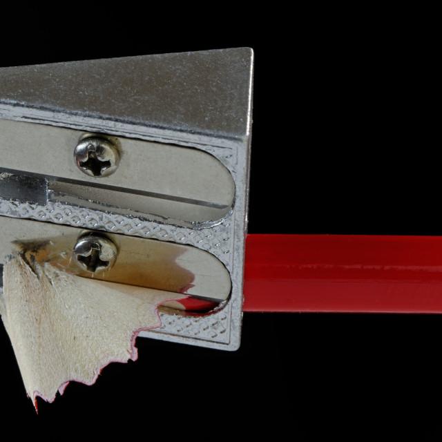 """Pencil Sharpening"" stock image"