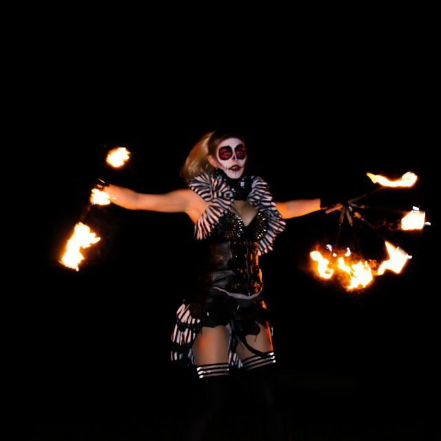 """Fire Dancer"" stock image"