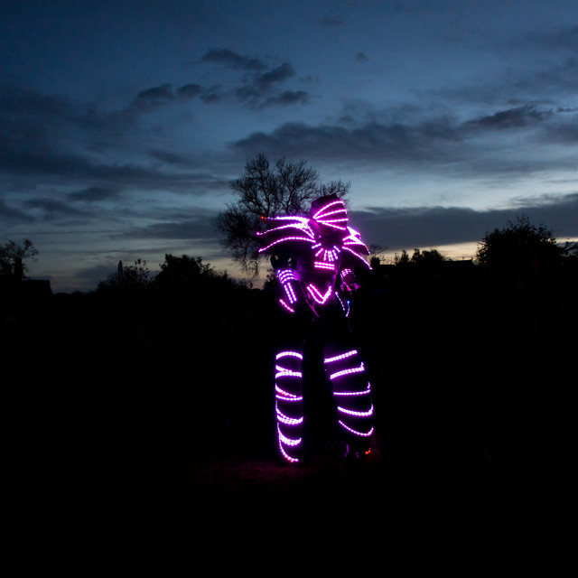 """Glowbot in the park"" stock image"