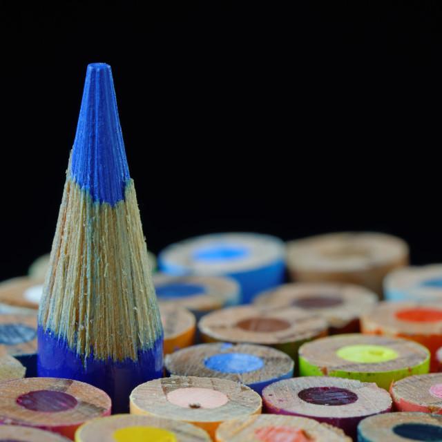 """Blue Crayon"" stock image"