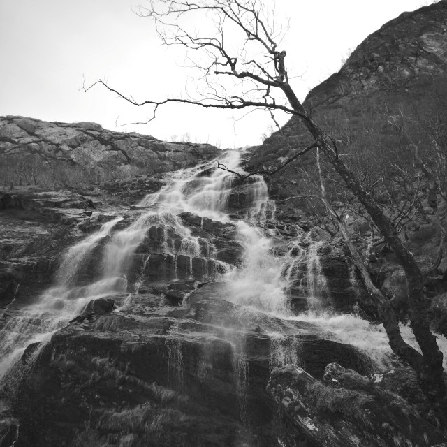 """Steall Falls"" stock image"
