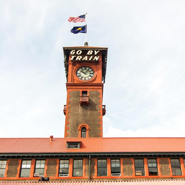 """Portland Railway Station Tower"" stock image"