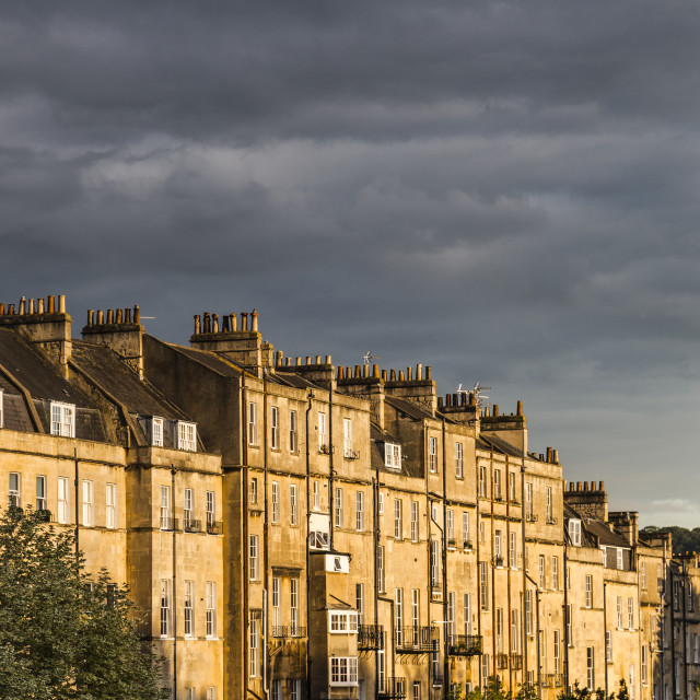 """Bath City in Rich Sunset"" stock image"