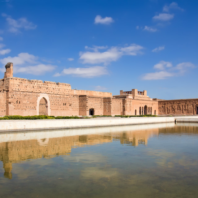 """El Badi Palace in Marrakech"" stock image"