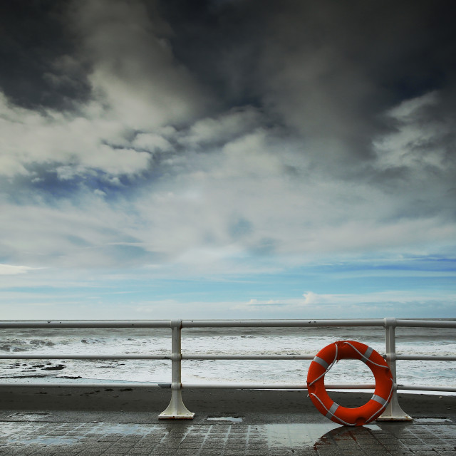 """""""Calm After Storm on a Seafront"""" stock image"""