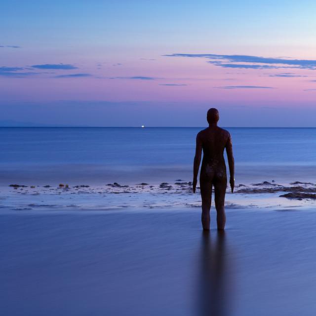 """Looking to the far horizon"" stock image"