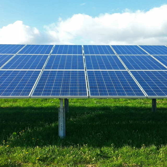 """Solar Panel Farm"" stock image"