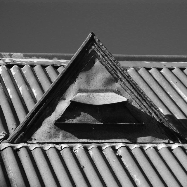 """Old Roof Vent"" stock image"