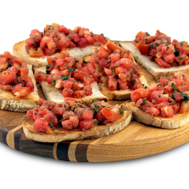"""""""Italian bruschetta"""" stock image"""