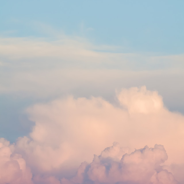 """Orange Cloudscape Vertical"" stock image"