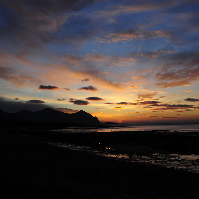 """""""North Wales Sunset"""" stock image"""