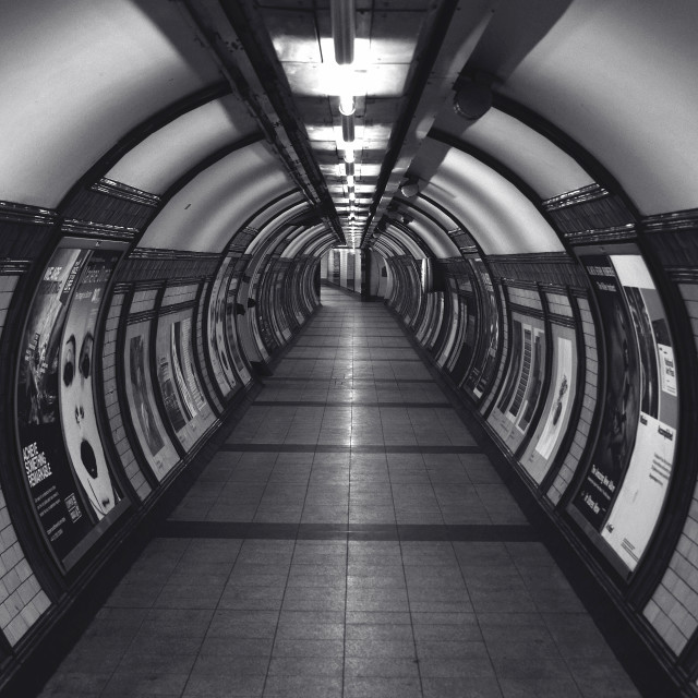 """Embankment Underground Station."" stock image"