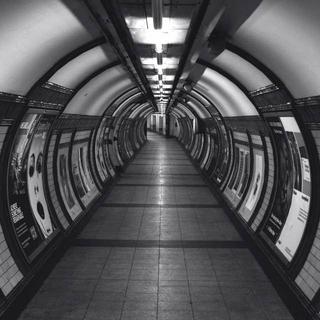 """Embankment Underground Station."" stock image"
