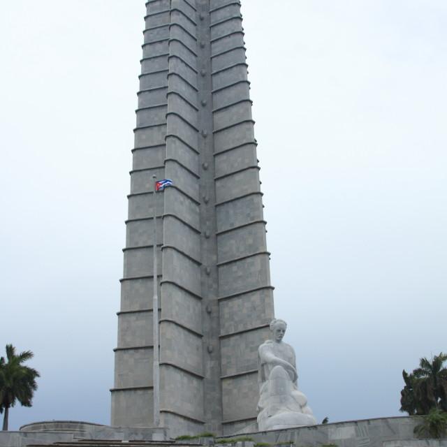 """José Martí Memorial tower in Revolution Square, Havana."" stock image"