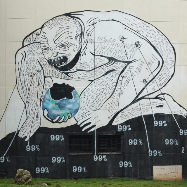 """""""Anti-Capitalist Graffiti, Havana, Cuba"""" stock image"""