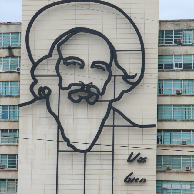 """Fidel Castro monument in Havana, Cuba"" stock image"
