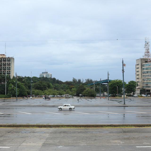 """Plaza de la Revolucion / Revolution Square, Havana, Cuba"" stock image"