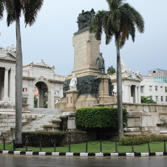 """""""Memorial to José Miguel Gómez in Havana, Cuba"""" stock image"""