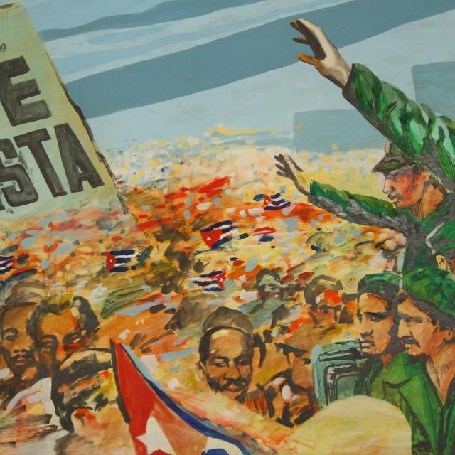 """Anti-Batista mural in Museo de la Revolucion, Havana, Cuba."" stock image"