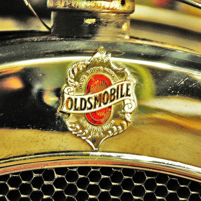 """Oldsmobile Badge"" stock image"