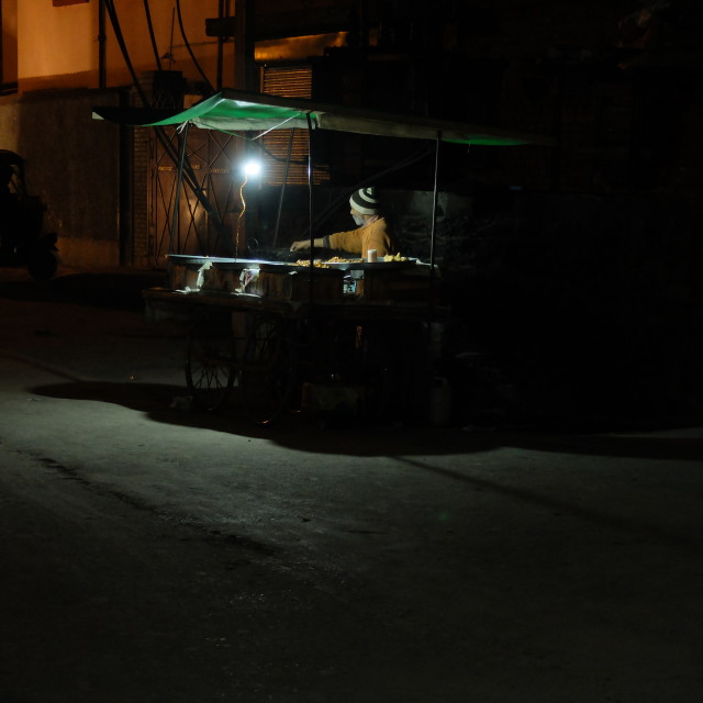 """Late night street vendor"" stock image"