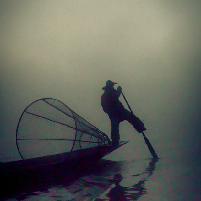 """""""inle silhouette"""" stock image"""