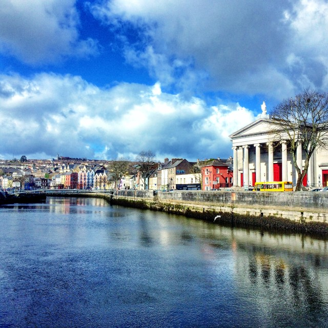 """Cork Courthouse & River Lee"" stock image"