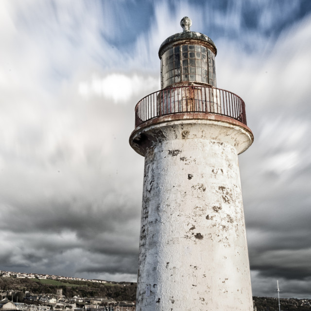 """Unloved Lighthouse"" stock image"