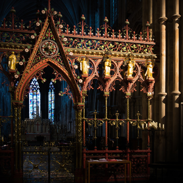 """""""Lichfield Cathedral Crossing Screen"""" stock image"""