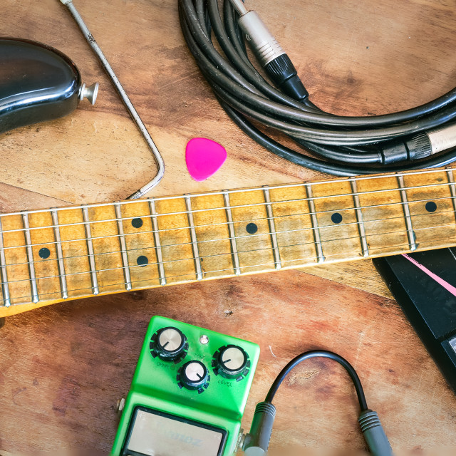 """Electric guitar and Accessories"" stock image"