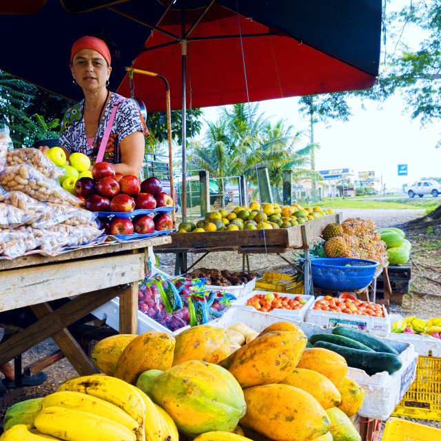 """Roadside fruit stall"" stock image"