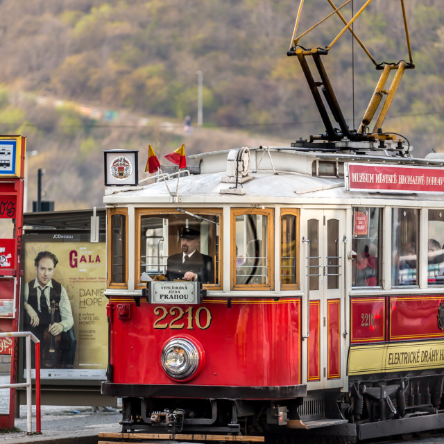"""Traditional Czech tram"" stock image"