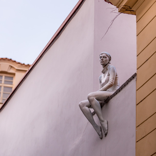 """Sculpture in Prague, Czech Republic"" stock image"