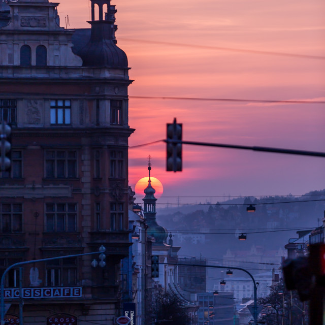 """Sunset in Prague, Czech Republic"" stock image"