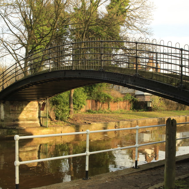 """Cast Iron Footbridge"" stock image"