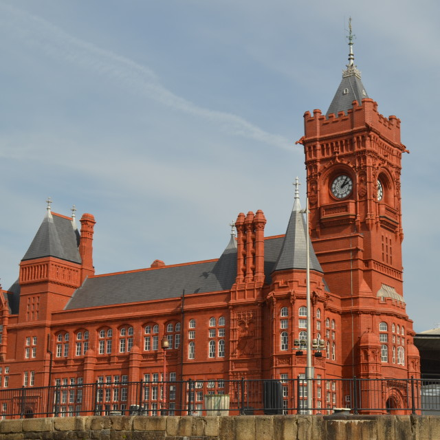 """Pierhead Building, Cardiff, Wales"" stock image"