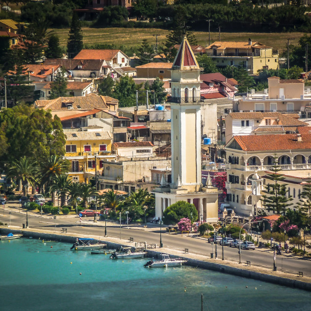 """Church of St Dionysios Zakynthos town"" stock image"