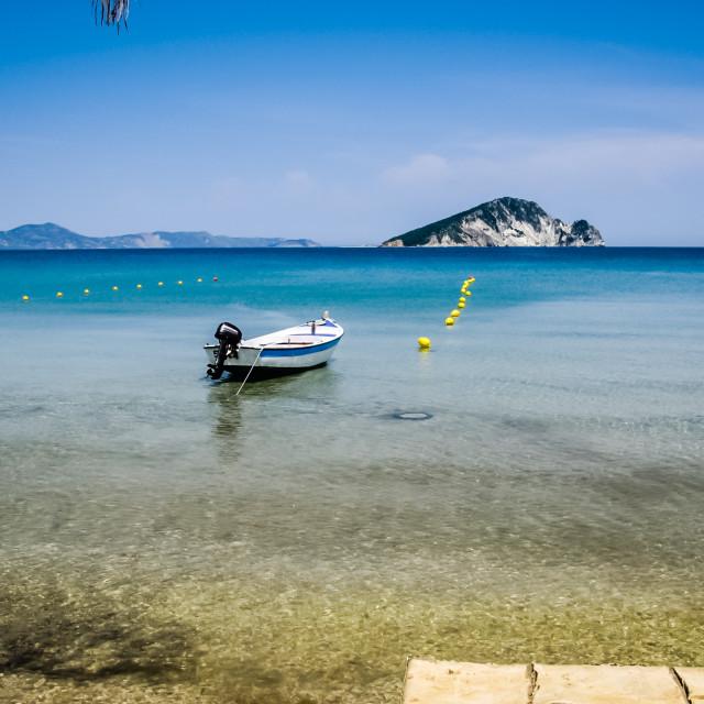 """Marathonissi Turtle island Zante"" stock image"