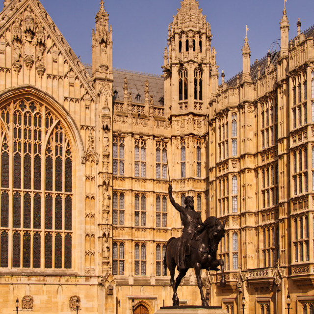 """Westminster - Richard the Lionheart"" stock image"