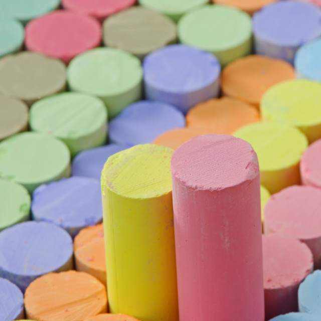 """Box of Chalks"" stock image"