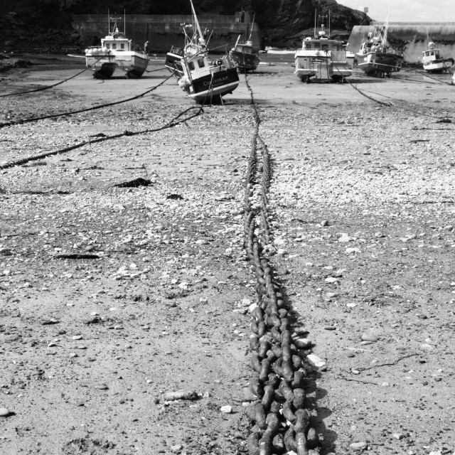 """""""Harbour Chain"""" stock image"""