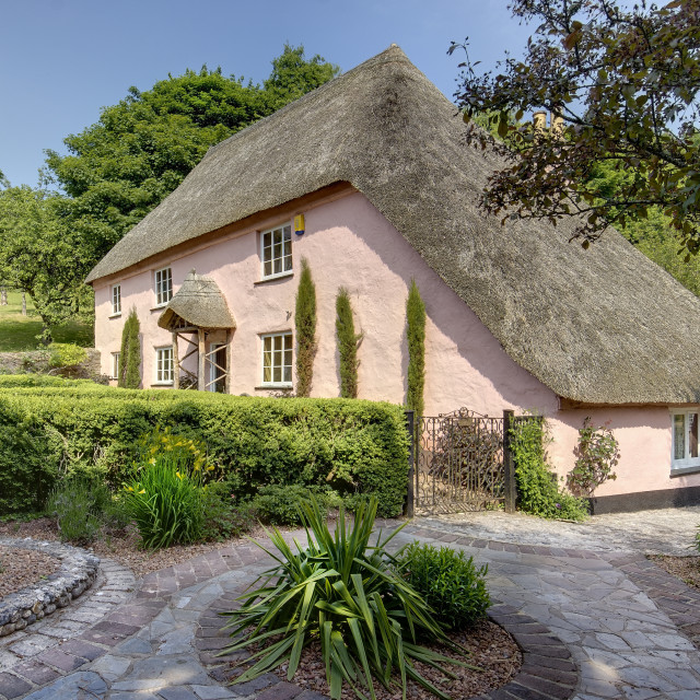 """Rose Cottage - Cockington - Torquay"" stock image"