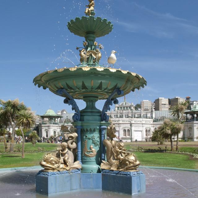 """Cary Green Victorian Fountain - Torquay"" stock image"
