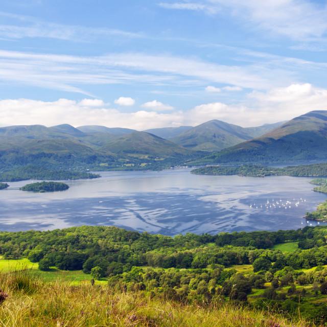 """Scotland - Loch Lomond"" stock image"