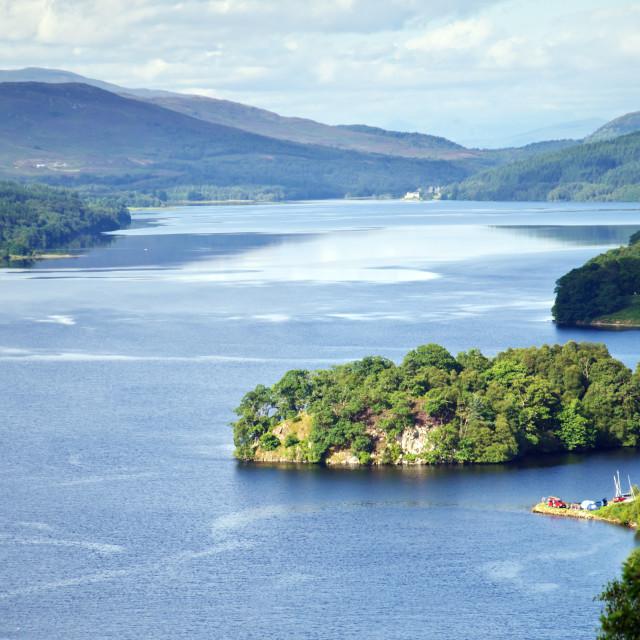 """Scotland - Loch Tummel"" stock image"