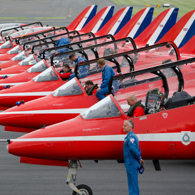 """Red Arrows, Prestwick"" stock image"