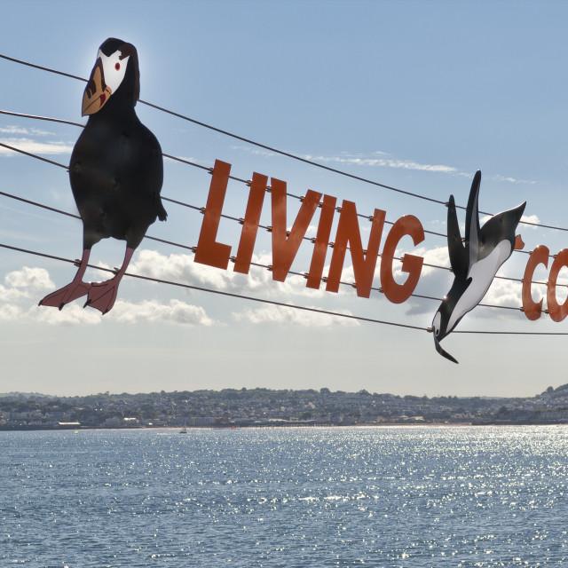 """Living Coasts Sign - Torquay"" stock image"