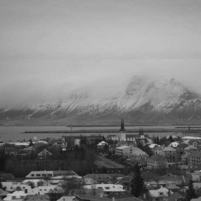 """The Reykjavik backdrop"" stock image"