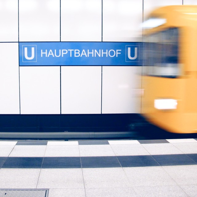 """Central Station, Berlin"" stock image"
