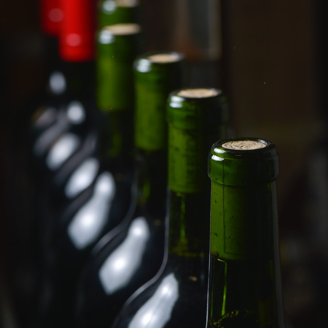"""Wine bottles preparation"" stock image"